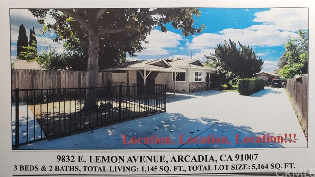9832 E Lemon Avenue, Arcadia, CA 91007
