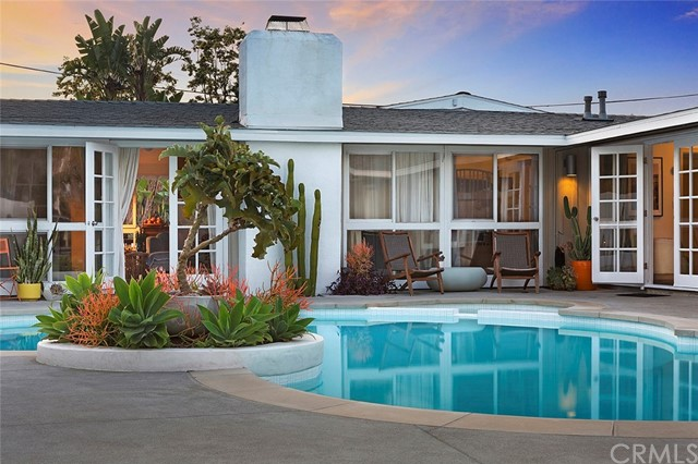 As we go through these unprecedented times,people are learning more & more about what is important to them in a home...What's important to you?  This mid-century modern home not only has spectacular views of the courtyard & pool but the lot on which it sits accommodates for as much outdoor entertaining space as you could ever want.Finding a stylistic pool home in Tustin under a million is by no means an easy task,& yet,not only does this one tag those boxes,it does so in an oh-so-smart manner.Nearly every living space is effortlessly light & airy,thanks to high pitched ceilings & an abundance of well-placed windows.Both inside & out,you'll find a series of spaces that are both cozy & clean.The modern open floor plan serves any entertaining agenda with ease,& the living room's fabulous fireplace—which leads the way to the kitchen—is one of the best seats in the house.This Cliff May Home...did I mention CLIFF MAY?Well,its has all of the features & upgrades that should expect & want:updated kitchen & bathrooms,concrete floors,new roof(2018),gas repipe(2019),whole house water system/softener(2018),reverse osmosis,new pool equipment(2018),new pool plaster,tile,& concrete(2019),energy efficient mini-split HVAC(2019),central heating,outdoor lighting(2020),smooth concrete fireplace,walls of windows,& pretty lines for days.Just a dash to our local historic downtowns,shopping,dining,trails,malls,& coastal hangouts.Your home is your hub now more than ever. Be inspired by where you live