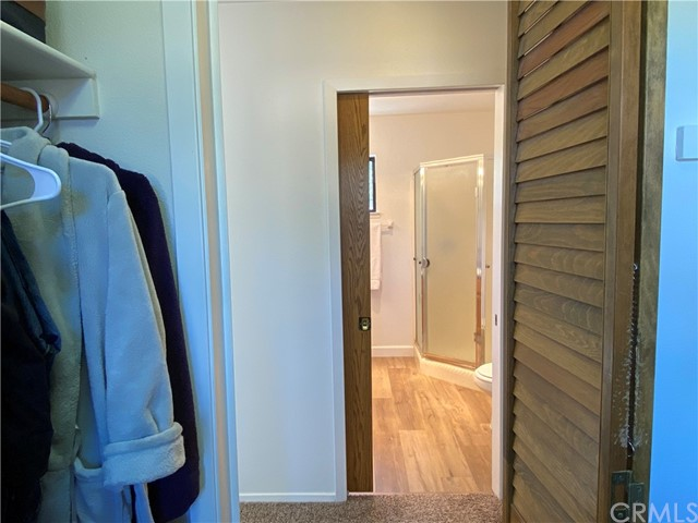 Master bedroom walk-in closet situated across from Master Bath.