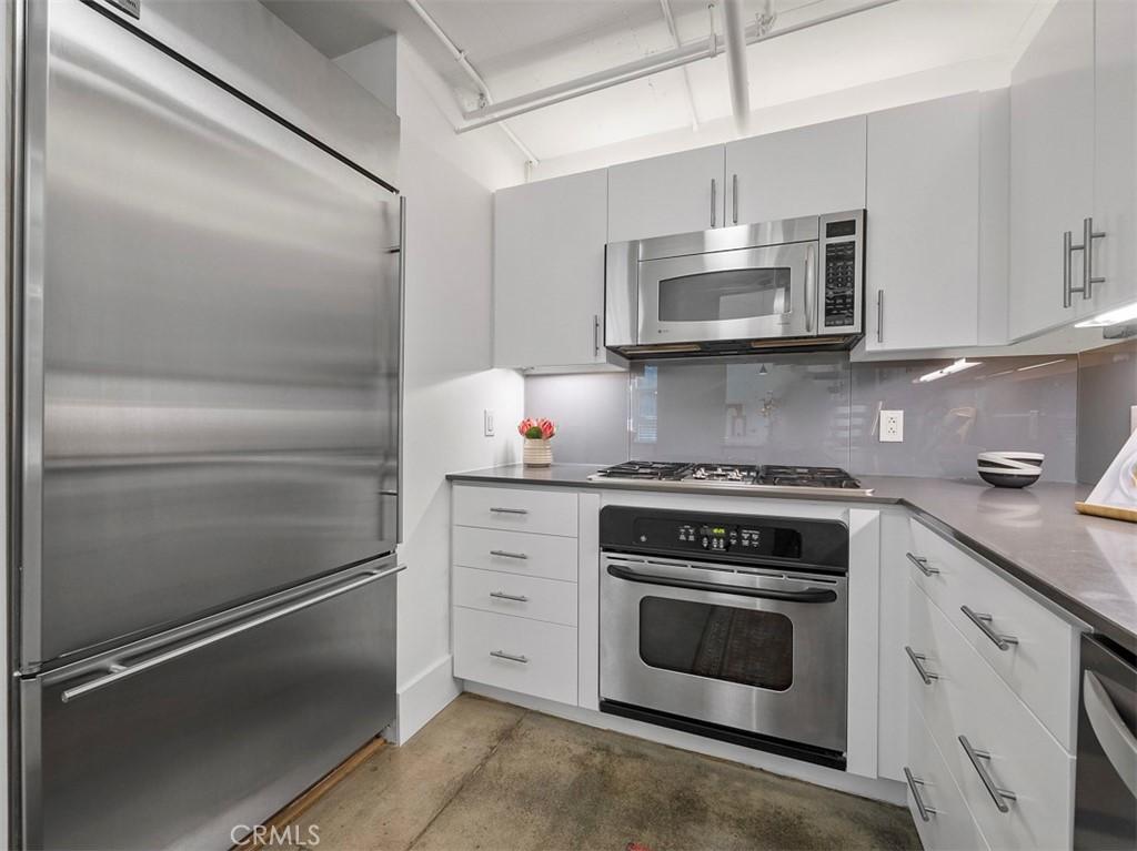 Kitchen with Built-in Fridge