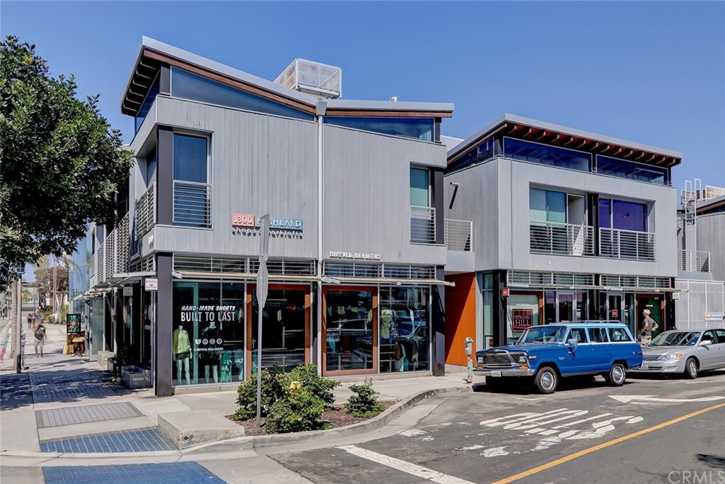 Rare opportunity to own office space in the highly desirable 1300 Highland Shops + Work Lofts complex in the heart of downtown. This is one of South Bay's most exclusive commercial address. Steps from the beach, parks and renowned restaurants, this development was designed by Nick Shaar, with the thought of the 'Beach Modern' design that is seamless with the local style. The space includes 320 SF (BTV), a private restroom and separate sink/wet bar area with A/C, polished cement floors and exposed beam ceilings, Transom windows and wide floor-to-ceiling windows with gorgeous glass doors. The Building has 10,000 square foot basement with spa locker rooms and steam showers. In-door garage space available.