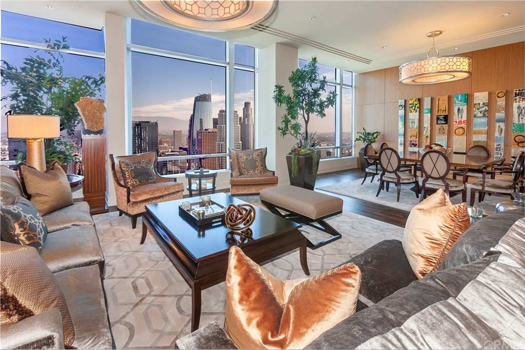 Living Room with City Views