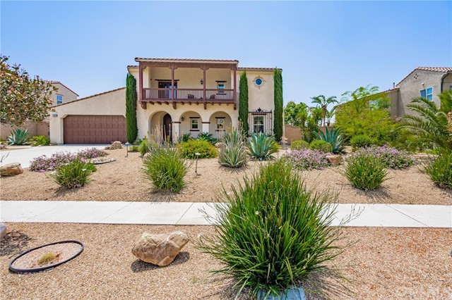 Highly Upgraded Spanish Style Estate Home - inspired by estates in LA's Hancock Park - located on top of the hill on a cal-de-sac in the desirable Cliff Haven community. This property has VIEWS, VIEWS, VIEWS stretching all the way to Mt. San Jacinto. Upon entering you are greeted by a lovely foyer with Spanish tile floors that run through the majority of downstairs.  The first floor has a dedicated home office that has a private entrance from the street (can easily be converted to 5th bedroom or mother-in-law suite) with french doors that open up to the side patio. The patio has a large sitting area with the Spanish theme continued.  The first floor has an open living concept -  kitchen, family room, eat-in dinning room -  open to each other with an unobstructed city view from the windows. Kitchen has upgraded stainless steel appliances including a built-in refrigerator and granite counter tops.  You will also find a large laundry room with ample working space, and a beautiful epoxy floor 3 car tandem garage with large custom storage cabinets.  A beautiful lush carpet covers the formal dining and formal living room and runs throughout the stairs and second floor of the home. On the second floor you will find a main suite separate from other bedrooms with a wonderful city view and a highly upgraded bathroom with separate tub, shower and toilet area.  The