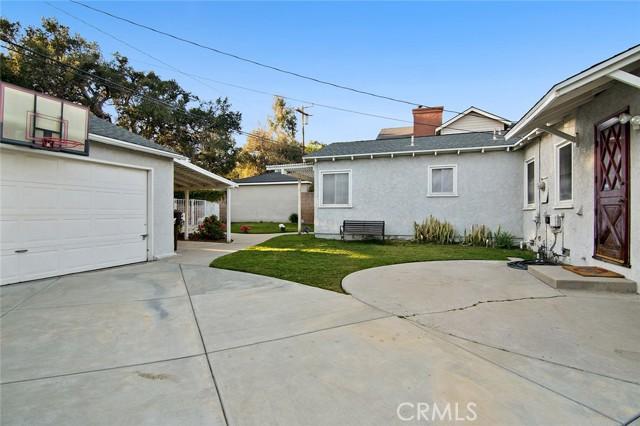 Garage and back yard