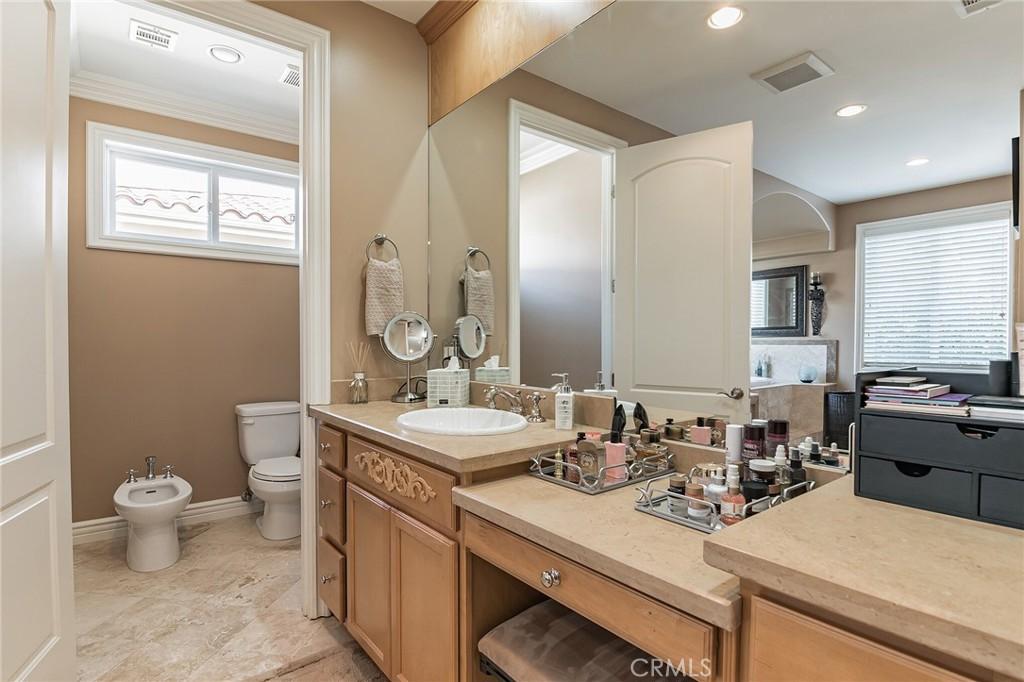 Master Bathroom with bidet.