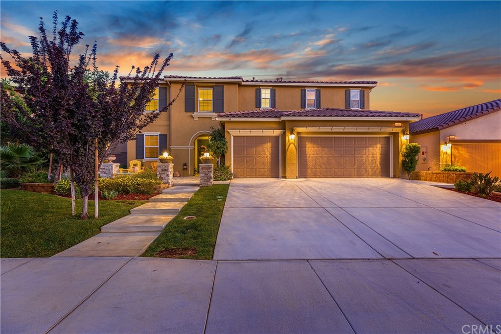 """BACK ON MARKET-BUYER COULDN'T PERFORM! REDUCED BEAUTY! UPGRADED SOLAR XTRA PANELS(ENERGY SAVINGS IN SUPPLEMENTS!)LIKE NEW BLT 2014! Elegant arches, tile & shuttered windows! Interior w/custom painting, high ceilings, latest contemporary fixtures, granite counters & fashionable wood grain porcelain flooring. Wired for sound. Bedroom, bathroom & office downstairs! Formal dining room, kitchen eating area & counter dining! Kitchen w/stainless steel appliances includes double oven, microwave, disposal & GE Cafe Counter Depth Refrigerator!Relax in added front patio area to watch sunset & entertain or barbecue in California room w/firepit at back! Upstairs offers expansive master bedroom w/master bathroom including upgraded lighting, 2-sink counters, soak tub & separate shower. The master walk-in closet could be another room!! Upstairs bonus room ready for your pool or game table or both!! Besides master, three bedrooms upstairs! Nicknamed """"West Wing,"""" two of the bedrooms share private separate powder rooms, bath and shower/tub room. Large fifth bedroom & guest bathroom. Yard has room for a pool. Wired for sound. Alarm system. 3-Car Garage! Cul-de-sac! WALKING DISTANCE to 2 POOLS!! $30+K UPGRADES! Clear termite report! STEM SCHOOL FOR Science, Technology, Engineering & Math!! (see supplements). New high school planned! Spencer's Crossing 600+ ACRE amenities:3 Pools, spa, barbecue & picnic areas, playgrounds, hiking trails, club house, banquet facilities, rec multipurpose room & MORE"""