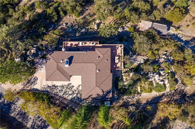 Aerial shot directly above home