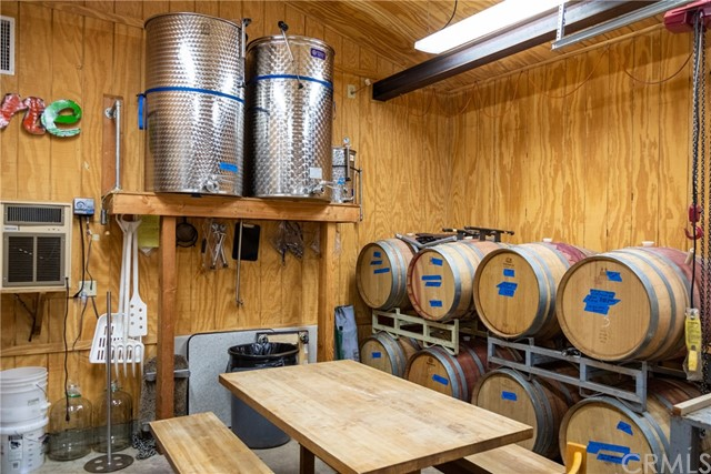 Separate structure used as wine barrel room with two entryways