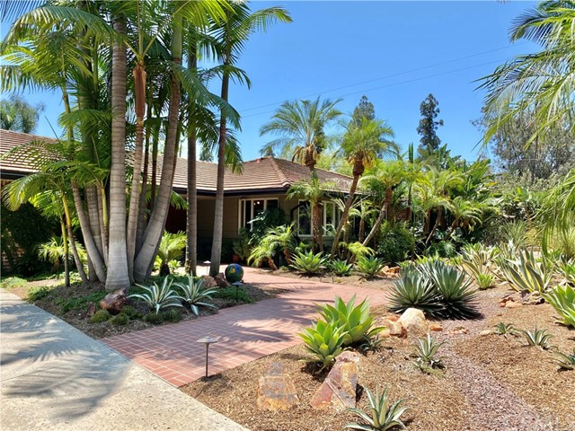 Pool and spa highlite the lush tropical landscaping on this over 20000 square foot property.  Single level home with all the upgrades.  Outstanding location in Sunny Hills High school District.  Spacious living room opens into a large dining room surrounded by windows, that makes the beautiful back yard landscaping feel like part of the house.  A convienent dry bar in the dinning room opens directly into the kitchen eating area.  Remodeled kitchen is open to family room.  All rooms have a view and access to the back yard and pool.  Large back yard has been host to many large parties.  Room on the covered patio for large tables and lots of comfortable chairs.  Other areas in the yard have quiet shaded spots to sit and relax.  The yard is an extended part of the house spring thru fall. Home features three large bedrooms and two recently updated bathrooms.  Water tolerent landscaping highlights the entire property.