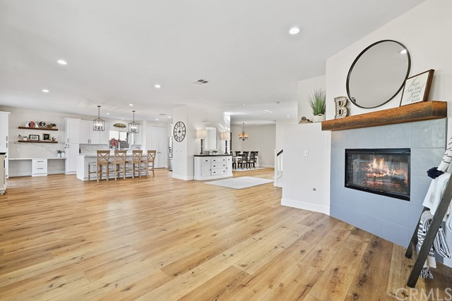 Open concept living to dining to kitchen!