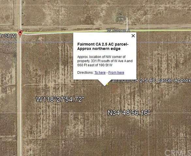 0 Vac/Ave A2/Vic 188 Stw, Fairmont, CA 93536