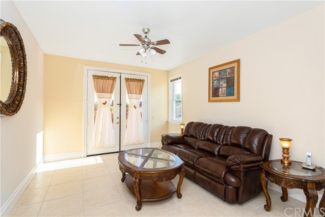 Guest Bedroom/Media Room/Man Cave located on the lower level with French Doors leading to backyard and VIEWS!
