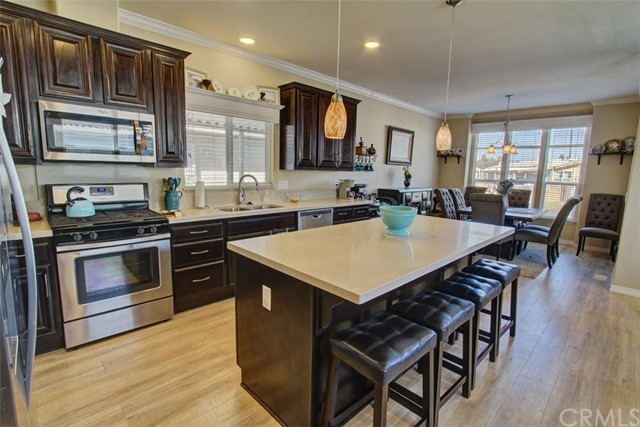 Kitchen with Stainless Steel Appliances and Large Island