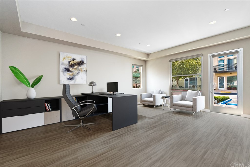 'Virtual Staging to illustrate office/business possibility of first floor.