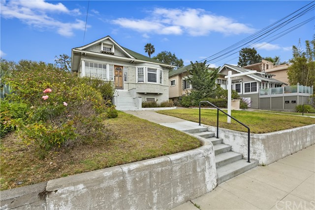 Amazing opportunity to own three single story separate bungalows, one with two units on elevated lot in the Historic District of Santa Monica. 2547, 2547 1/2,2551 & 2549 are all being sold together on one oversized corner lot and has significant upside potential and picture window views with glimpses of the ocean. The front bungalow consists of 2br, 1ba with a partially finished attic with skylights. Attached to the first bungalow is a separate unit with 1br, 1ba with your own private entrance.  Bungalow #2 has 3bd, 2ba with cute back patio. Behind the two Bungalows is another separate structure that has 2 bd, 1ba. Each unit has a garage storage space. Both front units have front yard landscaping. Don't miss these very unique properties superbly located on Ocean Parks Blvd and 3rd street, just 3 blocks from the beach.  An easy stroll to trendy Main St, beaches, shopping and Farmers Market.  Leave your car at home and enjoy beach life.