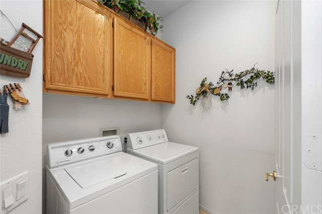 Convenient downstairs laundry room