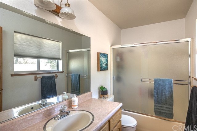 Upstairs bathroom. Tub in shower.