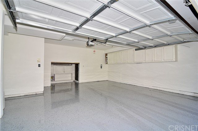 Clean Garage with Epoxy floors.