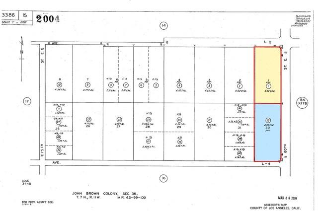 80 E and Avenue L, Roosevelt, CA 93552