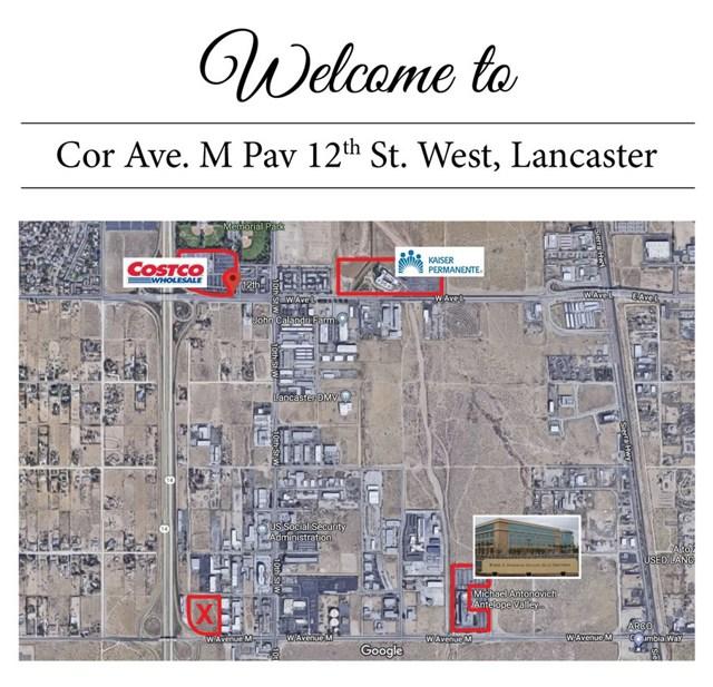 0 Vac/Cor Avenue M Pav /12th Stw, Lancaster, CA 93543
