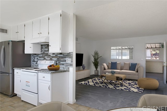 Kitchen/living room (virtually staged)