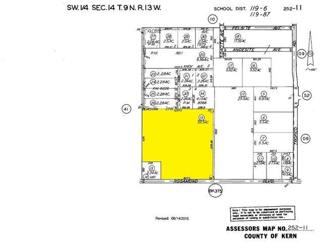 60 St. West & Rosamond Boulevard, Rosamond, CA 93560