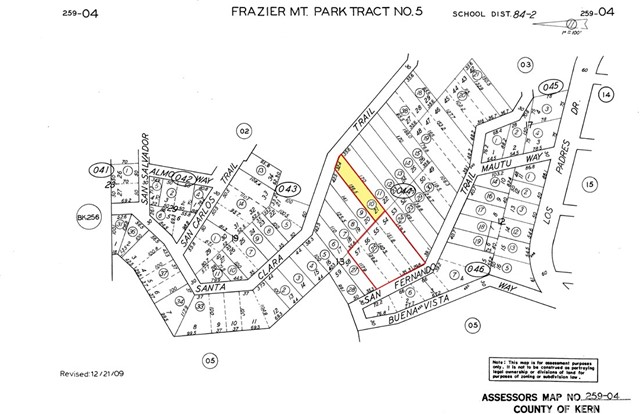 26297 On Santa Clara Trail and San Fernando Trail, Frazier Park, CA 93225