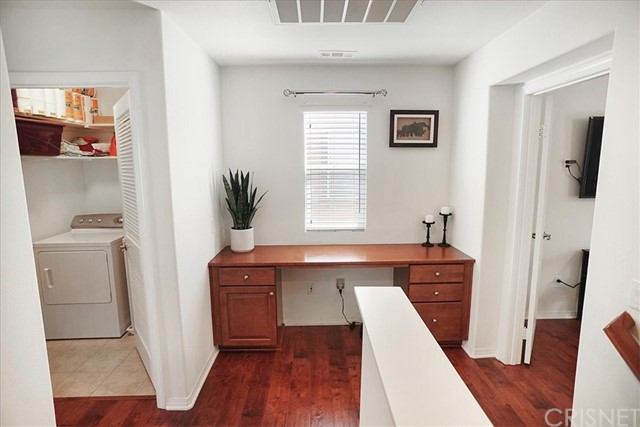 upstairs landing with desk