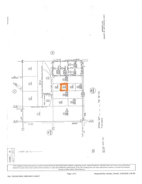 0 Vac/Vic Avenue X12/236 Ste, Llano, CA 93544