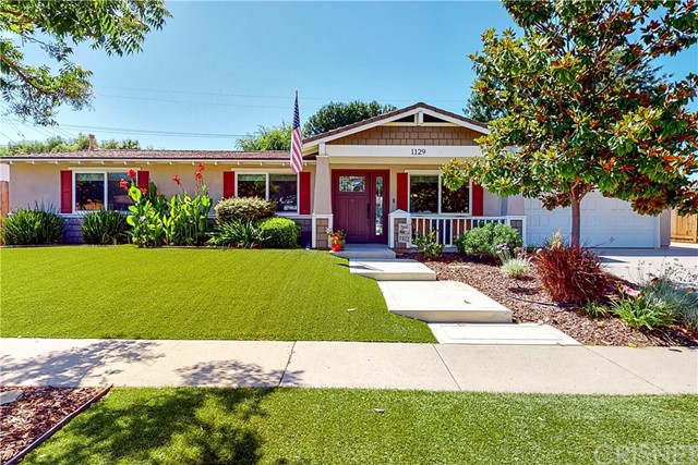 Welcome to 1129 Burtonwood Ave. in Thousand Oaks. With 3 bedrooms, 2 full baths, almost 1200 sq. ft. of living space this home has it all. This home was completely remodeled in 2010. It was taken down to the studs, had structural support added, all new insulation, wiring, and plumbing. The kitchen is complete with granite counters, custom backsplash, stainless steel appliances with double oven and included fridge, and breakfast bar opening up to the dining area and living room. The master bedroom has an ensuite bathroom with dual sinks, a large shower, and a walk-in closet. Two additional bedrooms and full bathroom wrap up the living space. Additional features include a Vivant Security System, A/C, 220V, and included Washer and Dryer. The private backyard is almost 10,000 sq. ft. and is very spacious. Lots of fruit trees (Fig, Plum, Apple, Peach, and multiple Citrus trees.) Plenty of space to garden. There is also a large patio seating, firepit area and included storage shed. The side of the house has plenty of room for RV or boat with an extra-large driveway. Don't miss out on this gorgeous home close to schools, parks, and shopping.