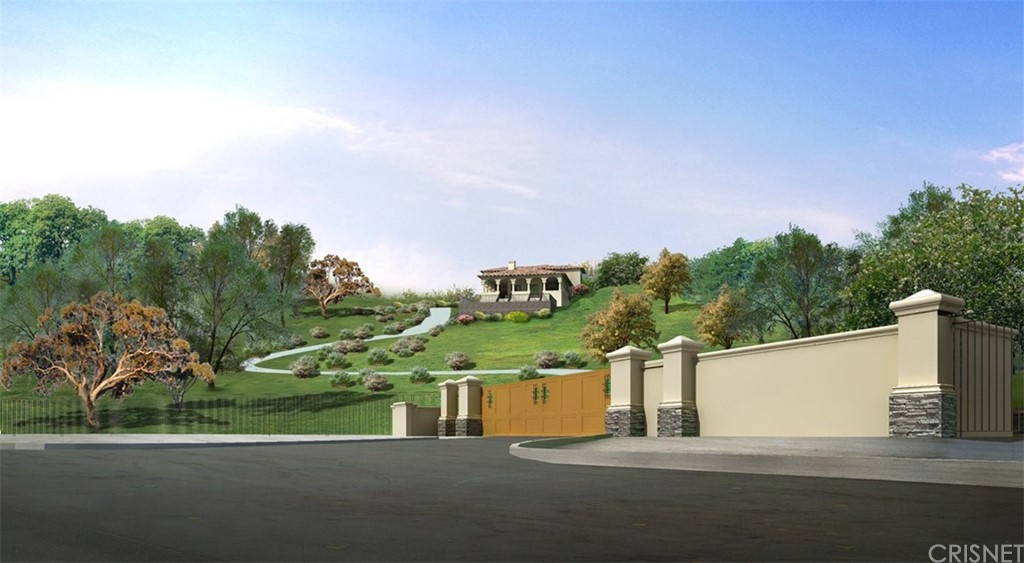 ATTENTION ALL BUILDERS, INVESTORS, AND OWNER USERS LOOKING TO BUILD THEIR DREAM HOME! Opportunity to build 9,000 sqft extraordinary luxury compound behind gates with stunning views and privacy. Completed plans, delivered RTI. All building and MEP permits/school fees are already paid. The plans call for a two-story home with grand foyer with lots of natural light. The ground floor includes guest suite, a walk-in wine cellar, large media room, and oversized garage. Main floor has spacious family room, formal living and dining rooms, Chef's kitchen, butler's pantry, and den, and library. Second floor features light-filled master suite with private outdoor lounge, spa-like bathroom, walk-in closet and three secondary suites. Large lot includes patio with outdoor dining space, fire pit, BBQ center, swimming pool with canyon and mountains views. There is also a creek nearby, with hiking trail and a back area that can have a playground/treehouse.