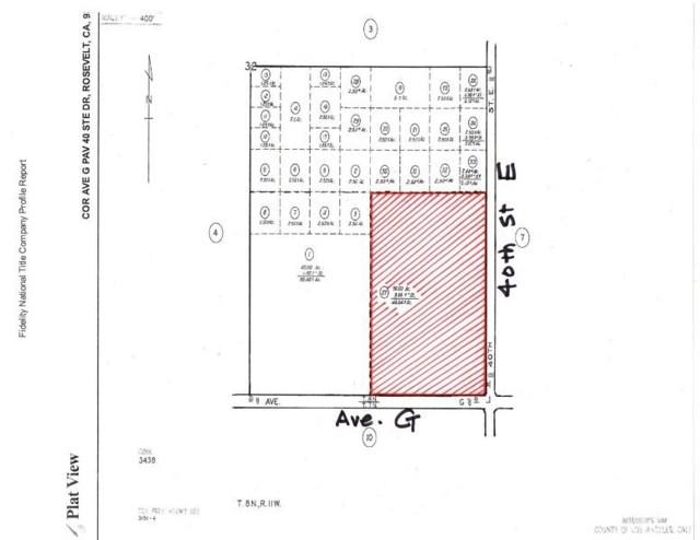 0 Vac/Cor Avenue G Pav /40 Street E, Lancaster, CA 93535