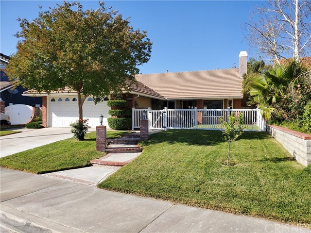 Welcome to this wonderful single story family home nestled in a prime cul-de-sac location. This attractive Mountain View home features almost 1500 sqft of open living, 3 bedrooms with loads of closet space plus an updated master bath, 2 other bedrooms with installed LED lighting and newer laminated flooring. The 2nd bathroom has a tub/shower combo perfect for the kids. You have vaulted ceilings both in the family room with wood floors & living room with a wood burning fireplace and tiled floors. The upgraded kitchen offers newer quartz countertops, stainless steel appliance and a deep base sink. As you exit to the spacious backyard via the double-doors you have a lattice covered patio and step down brick lined seating area (patio furniture included). The yard will be great for entertaining for summer parties plus no rear neighbors is another attractive feature. Beautiful curb appeal with a newer gated front entrance just makes this home so much more special. The community has a lot to offer as with Blue Ribbon schools that include Mountain View elementary, 2 parks that were just renovated by the city and it's about a 3-minute walk. You have a variety of choices for food plus Circle K, CVS, Starbucks are in the same corner location and this is within walking distance from the home if preferred. Such a wonder place to call home so don't wait to see it. NO HOA or Mello Roos either.