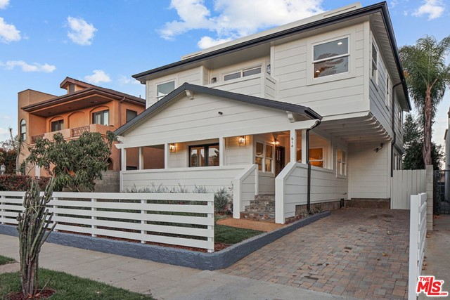 614 Flower Ave. Venice CA 90291. Two homes on a large 5,793 sq/ft lot. Beautifully renovated Craftsman, approx. 2,780 sq/ft, rooftop deck, private balcony off the master, wrap around front porch off sun room, wood floors throughout, open floor plan, light and bright. Freshly painted inside and out, floors refinished, new range, hood and landscaping. This unique property features the front house w/4 bedroom, 3 bath single family home with a chef's kitchen and entertainer's space. Great indoor/outdoor flow. Beautifully landscaped courtyard separates the main house and carriage house. A two bedroom, one bath private residence. Property backs to alley allowing parking in the front drive as well as the rear within the gate. This is a great opportunity to purchase a move-in, work from home or lease for additional income in this A+ location. Close proximity to Rose Avenue shops and restaurants. This home will not disappoint.