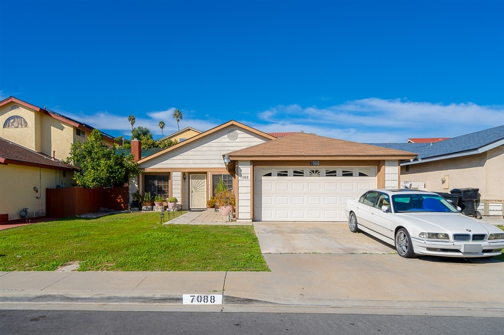 Beautiful Single Story Home in quiet neighborhood. 4 bedrooms, 2 baths and 2 car garage built in 1989. Vaulted ceilings, tile floor and upgraded counters in kitchen. 12x24 sun room for entertaining. Refrigerator Washer and Dryer included. Terraced yard for your favorite plants and trees. Red Brick Patio and Vinyl patio cover create a great space for outdoor living, BBQ and entertaining. Just 20 min to Downtown San Diego and Naval Air Station and local Beaches. Neighborhoods: North Bay Terraces Equipment:  Dryer, Washer Other Fees: 0 Sewer:  Sewer Connected