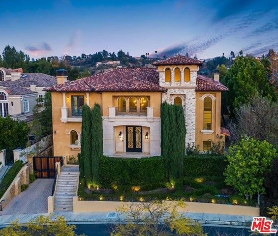 Extremely extravagant Mediterranean Style 16,634 sqft home of 8 beds, 12 baths and a lot size of almost 25,000 sqft. Beautifully located in the most highly sought after prestigious 24-hour guard-gated community in BEL AIR CREST. This remarkable dream home boasts a grand entry, brilliant bright interior with elegant accents. The upstairs hallway features a cathedral style ceiling. A gorgeous Master bedroom and a separate HIS & HERS master bath and private balcony. Theres more to love from a convenient Elevator, a superb 8+ Car garage, Spa, Gym, theater, wine room, designer pool, Gourmet kitchen, and expansive entertainment areas. Enjoy privacy and excellence with all the great amenities for residents in the Bel Air Crest Community. You will live amongst breathtaking canyon views complete with tennis courts, a community pool, childrens playground, large clubhouse with fitness center, basketball, dog park and hiking! Close proximity to major freeways. A must see!