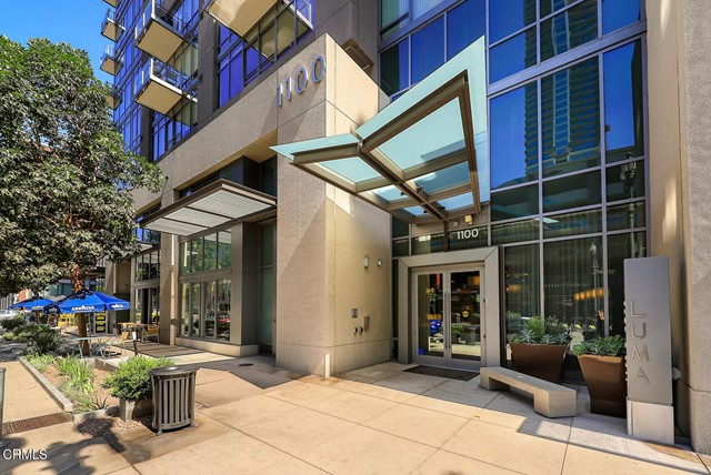 RARE TWO GATED SECURED PARKING PLACES in this downtown loft with floor to ceiling windows and with an extra side window that captures views of the pool, spa and sun deck.1 bedroom, 1 bath located in the beautiful modern LEED Certified LUMA building.Amenities include 24/7 doorman and security, fitness room, outdoor terrace with BBQ with lounge, fireplace and dining area. Hygge Bakery located on the ground floor in the building. Close by, The Staple Center, LA Live, Regal Theaters, Ralph Market, Whole Foods, and Starbucks