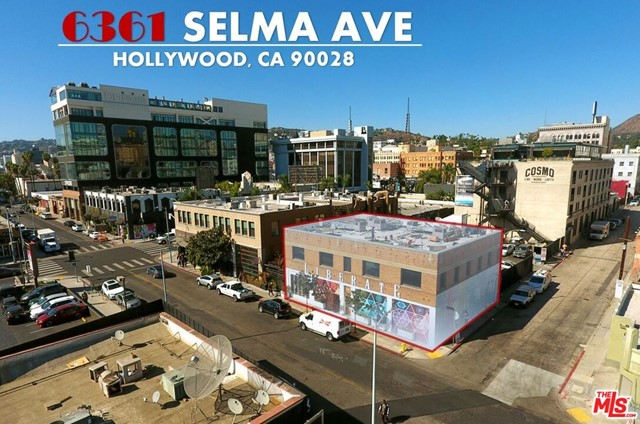 """High profile, stand-alone, full-building in the opportunity zone off Selma Ave & Cahuenga Blvd, the most trendy intersection in Hollywood. Both floors of the two-story brick building are available for a four-year sublease (longer term may be available).  Ground floor is mostly open, currently used as retail and performance space. Second floor has open space with private offices built out along the perimeter.  Both floors have been used as recording studios in the past.  Podcasting and studio needs of all kinds are applicable. The building's rooftop has wonderful South, East, and West facing views, and is easily accessible by stairs. The building's roof is not included in the square footage advertised. The building's Western side is sharing in the pedestrian-friendly EaCa (""""East Cahuenga"""") Alley, possessing direct, ground-floor doorway access to the alley, outside seating, neighbors and friendly commotion"""