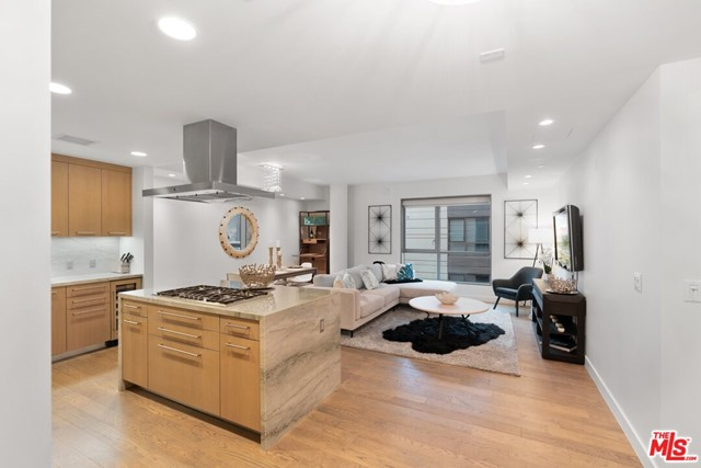 Enjoy modern luxury living and fresh ocean breezes in the heart of Santa Monica at the prestigious Seychelle.  This is one of the newest (built-in 2014) full-service buildings to be developed on Ocean Avenue. This beautiful two-bedroom, two-and-a-half bathroom residence features an open floor plan, custom upgrades throughout, and a private balcony overlooking the greenery of the courtyard with amazing ocean views. The contemporary kitchen was designed by Marmol Radziner and features quartzite countertops, custom cabinetry, Thermador appliances. Master suite includes a private balcony, large walk-in closet, spa-like bathroom, separate tub, stall shower, and dual sinks. The second bedroom has an en-suite bathroom with ocean Views!. There is also a powder room and perfectly located off the entry. The Seychelle includes 24-hour concierge, side-by-side parking, storage, gym, plus exclusive roof top pool, spa deck! Enjoy Sunsets while having a BBQ without leaving home! Lounge available too.