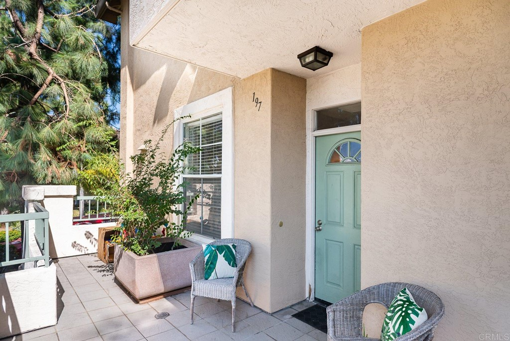 This end unit features two spacious  master suites,  two patio with lush exterior foliage and trees that provide a private and enjoyable ambiance. Mirabella is located close to all that is happening in Miramesa; you are in walking distance of great shopping, restaurants and parks. There is a large park just across the street for family play time, walking the dog, kicking the ball around with friends or just relaxing.  A perfect starter home.