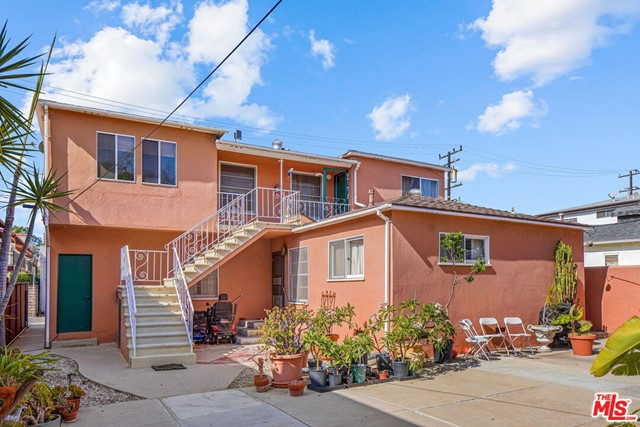 Excellent 4-unit income property located in the popular & quiet College Streets neighborhood of Santa Monica. This well-maintained, charming Spanish complex offers a front owners house and 3 additional units in the back building. The front separate house is 2BD+1Ba with its own laundry and enjoys a huge grassy front yard. Two units are 1Bd+1Ba and the third unit is 1Bd+Den+1BA. All units have outdoor space, hardwood & tile floors, lots of character & charming original detail. Laundry room, separate gas & electric meters & 4 enclosed garages. Soft-story retrofitting has been completed- well past minimum requirements. This property has an incredible walk score that provides easy access to all amenities for daily errands. The building is just block away from Santa Monicas Production District, Whole Foods, Bristol Farms, Erewhon, coffee shops, restaurants, retail and healthcare providers.