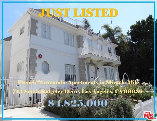 744 S Ridgeley Drive, Los Angeles, CA 90036