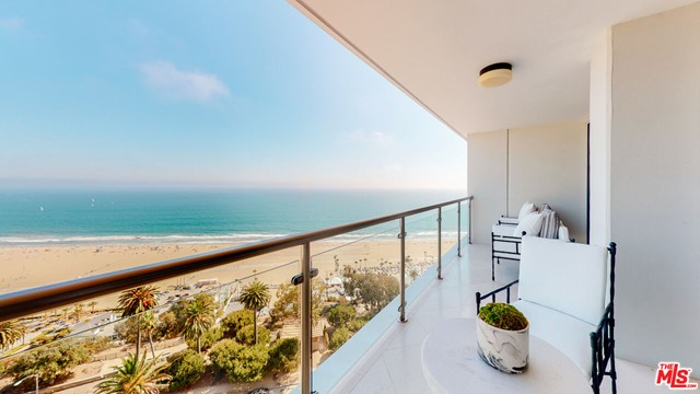 A very RARE find and easily the opportunity of a lifetime to own this 18th floor 2 story 4300+ sf residence with head on Ocean views from every single room from Malibu to Santa Monica Bay. Main floor has a fabulous chefs kitchen with center island, large living and dining rooms spanning approximately 30 ft of windows and terraces. You can hear the sound of the waves while dining, entertaining or relaxing. The primary master suite is approximately 1500 sf with a sitting room, 2 offices, 2 stunning baths and huge walk in closets and a master bedroom that will take your breath away that has floor to ceiling windows and terrace to watch the incredible sunsets. The lower level is a complete apartment with 2bds 2 baths, excellent kitchen and large living room perfect for family, guests, entertaining, staff or personal use such as a screening room. Every room in this home has floor to ceiling windows facing the OCEAN. This doorman full service building is located on Ocean Ave across from the Santa Monica bluffs perfect for that early run in the morning or evening sunset walk. This is a one-of- a-kind property and will bring you joy every minute you live here!