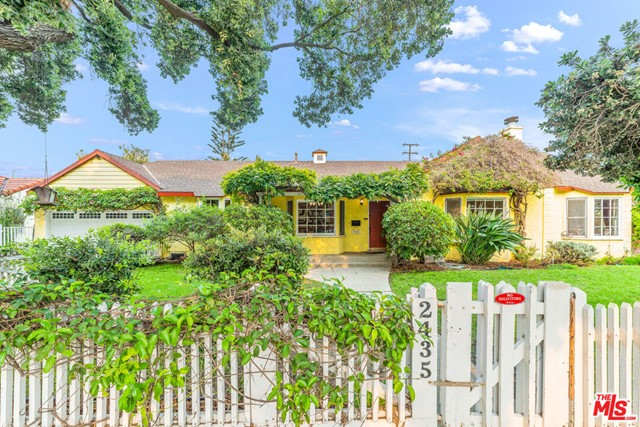 Charming & Inviting Single-Level 3 bed 2 bath 1,328 sq.ft updated Traditional on a quiet tree-lined street in Santa Monicas highly desirable Sunset Park & Grant Elementary School district. The house features an open concept floorplan with Craftsman flair including arches, coved ceilings, beautiful bay windows & hardwood flooring. Spacious & bright living room is ideal for entertaining w/ recessed lighting & an original wood-burning fireplace, while the dining room offers plenty of space for hosting dinners. Remodeled modern designer kitchen features high-end Miele appliances, granite countertops, plenty of cabinets, stainless steel sink, breakfast bar and tile flooring. Master bedroom is a fantastic retreat w/ vaulted ceilings & plenty of natural light. Large 2nd bedroom and a 3rd bedroom that has been converted into an ideal open office/den that could also be converted back into a 3rd bedroom Beautifully updated bathrooms feature travertine tiles & dark wood cabinets. White picket privacy fenced front and side yard. Private 2-car attached garage and large driveway. Walking distance to many great restaurants & a short drive away from Santa Monica beach & everything else this great area has to offer. This unique home is a must-see!