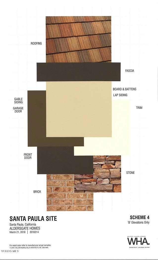 Materials and Colors Scheme 4-- B Elevat