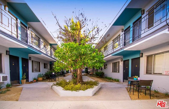Built in 1958, this garden-style 20-unit apartment complex consists of two structures, totaling 11,888 square feet of improvements and sits on a 13,555 square foot lot, zonedLAC2. There is a very attractive unit mix of one (1) studio/one-bath, one (1) Junior one-bedroom/one-bath and eighteen (18) two-bedroom/one-bath units. There is currently nine (9) vacant units. The property has been tastefully upgraded with13/20 units completely gutted and remodeled, copper pipes, new landscaping, exterior lighting, facade and concrete driveway. The seller has also completed the required seismic retrofitting. There are 6 parking spaces, secured entry and on-site laundry.