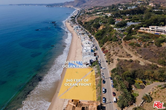 VERY MOTIVATED SELLER. PRICE ADJUSTED by $2,000,000 - READY TO BE SOLD TODAY. Amazing opportunity to own 290 feet of ocean front on one of the best streets in Malibu. Updated house with wraparound porch is all about those views. Very cute and charming, it will make you feel like you never want to leave. In addition to that, you will have another 240 feet of ocean front right next to it - a parcel of vacant land that is included in this sale, making it a one of a kind offering. Enjoy a quiet life on the water with your private beach, or throw an amazing party on the parcel of land right next door. The choice is yours. Don't miss your chance to own 290 feet of dry sand on one of the most prestigious streets in Los Angeles County an opportunity that comes once in a generation.