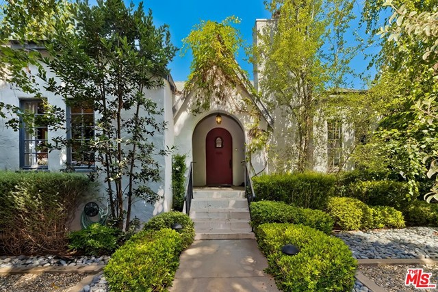 Charming Country English home, North of Wilshire.  This 3-bedroom vintage beauty built in 1929 has been updated and well maintained, while still preserving many of the original features.  This light-filled home has hardwood floors, an original fireplace mantel, and high coved ceilings. The remodeled open kitchen includes custom cabinets and stainless appliances. The bathrooms were updated and have Carrara marble floors. New central HVAC system.  Landscaping was redone and the great private yard, has mature avocado and fruit trees and an outdoor spa.   Great outdoor lighting in both the front of house and the backyard.   This house is pure charm. Wonderful opportunity to live in prime Santa Monica, located a 1/2 block from Douglas Park and close to Montana and many restaurants.  Be part of the Santa Monica school system,  including the coveted Franklin Elementary.