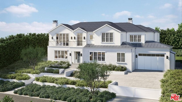 Stunning Upper Riviera dream home set for completion by December 2020, this Ken Ungar-designed transitional is minutes away from the Palisades Village and Brentwood in the west sides most prestigious neighborhood.  Ocean views highlight the California lifestyle with indoor-outdoor living in this family home, perfect for entertaining.  Pocket doors open the family room to a gorgeous backyard retreat with pool, hot tub, BBQ/bar area and a cozy fireplace patio that will get year-round use. A formal living room, dining room, guest room and office round out the first floor.  Take the elevator down to the full basement which features a recreation room, bar, wine cellar, large gym with spa bath and sauna, screening room, full laundry, and a guest room with en suite bath.  Upstairs, the large master suite and private sitting room both have balconies with French doors to take full advantage of the view of Santa Monica Bay.