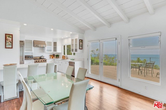 Owner is doing remolding. Will open for showing after 8/15. Facing Pacific Ocean, We have one of the longest water front property, with one of the biggest lot, 6149 sf in this neighborhood. One traffic light to Getty Villa! Beautiful two Bedrooms and two Bathrooms, hardwood floor throughout. Breathtaking ocean views and walk to the beach. Gated courtyard entry, new remolded Deck! Beach living style, close to Palisades Village Shopping Center, and Getty Villa. Sell AS IT IS. 24 hours showing notice. Open for one year Lease option.